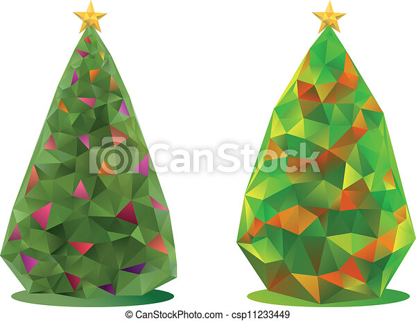 abstract christmas trees, vector - csp11233449