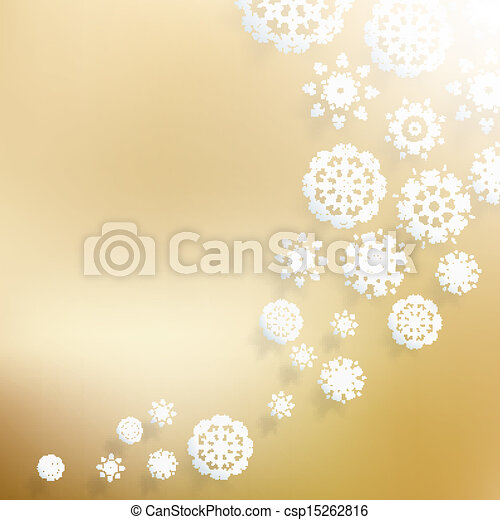 Abstract Christmas with snowflakes. - csp15262816
