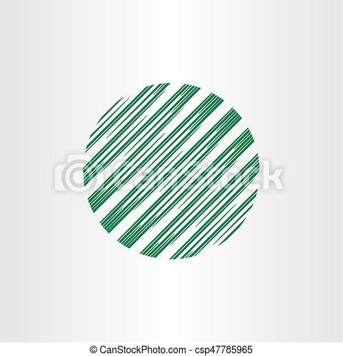 abstract circle globe logo element - csp47785965
