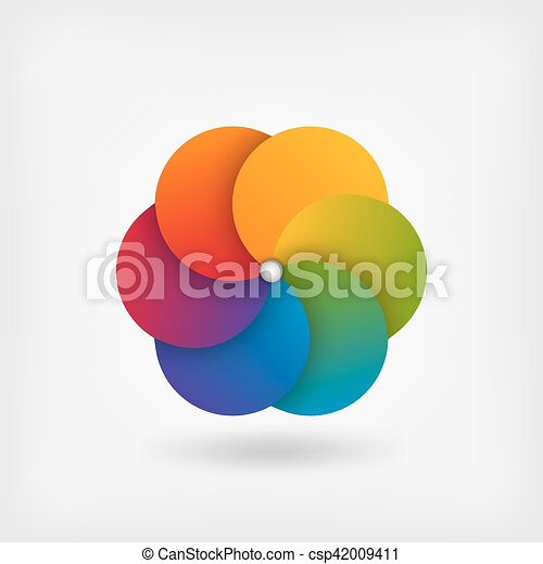 abstract circle symbol in rainbow colors - csp42009411