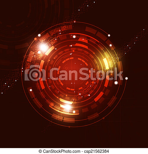 Abstract Circle Technology Background - csp21562384