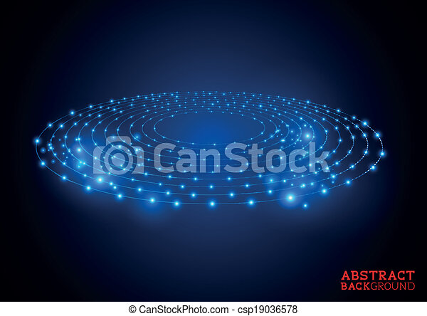Abstract Circles Background - csp19036578