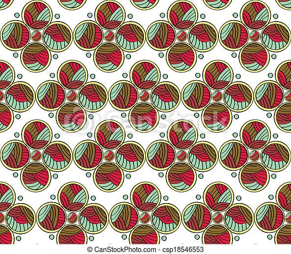 Abstract Circles Seamless Pattern  - csp18546553