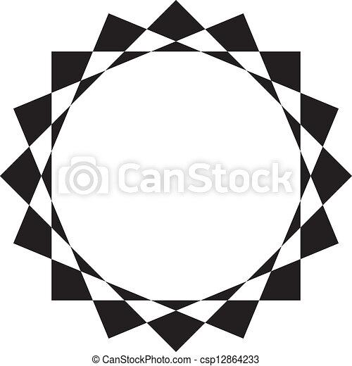 Abstract circular frame design background.