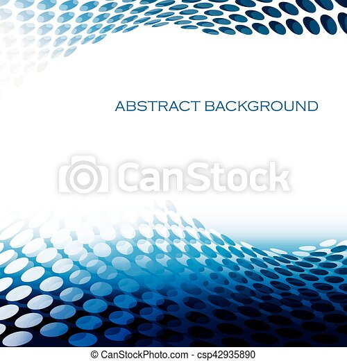 Abstract circular pattern waves green background - csp42935890