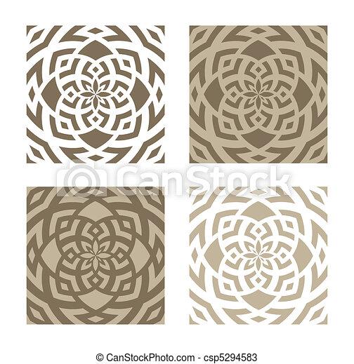 abstract circular patterns set of four abstract circular floral