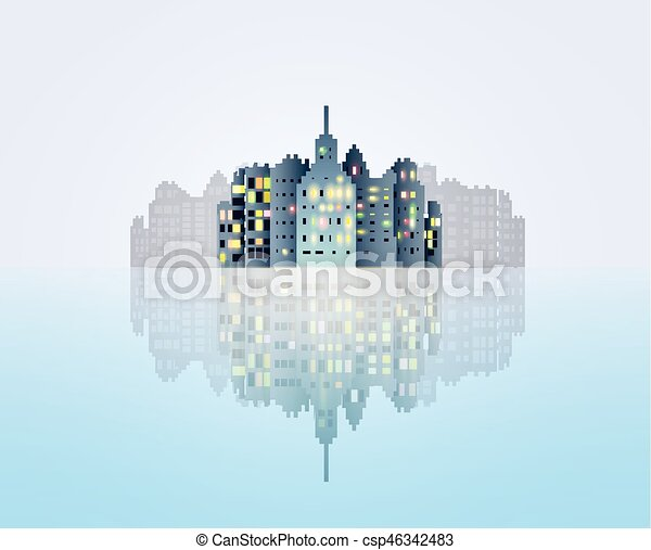 Abstract city background - csp46342483