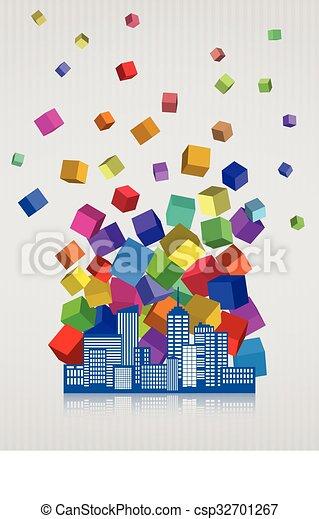 abstract city - csp32701267