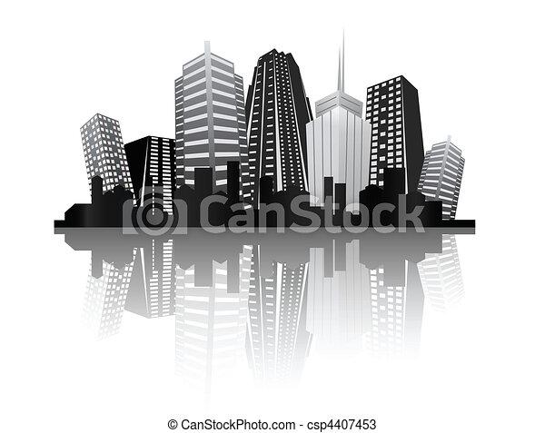 abstract city design - csp4407453