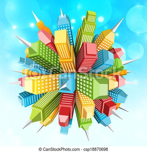 Abstract city - csp18870698