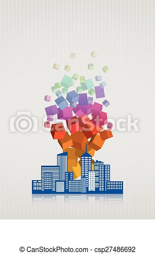 abstract city - csp27486692