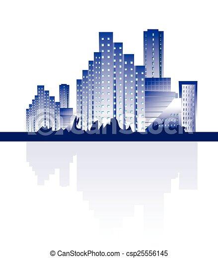 Abstract city skyline - csp25556145