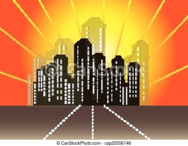 Abstract city skyline - csp25556146