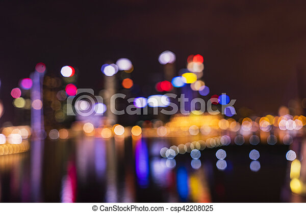 abstract cityscape light bokeh for background - csp42208025