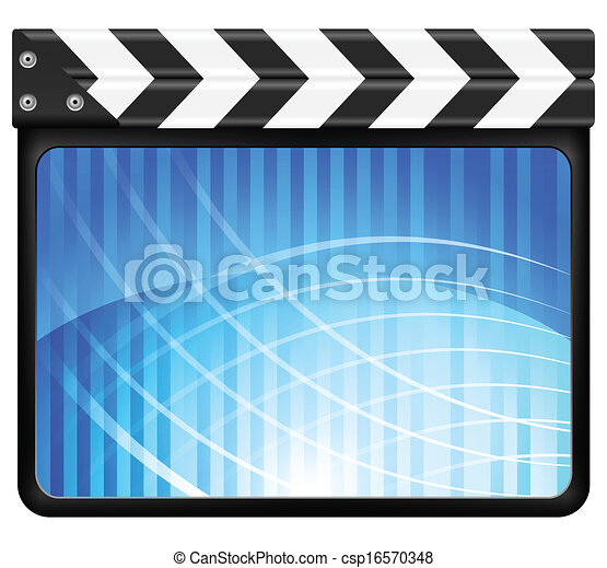 abstract clapper board  - csp16570348
