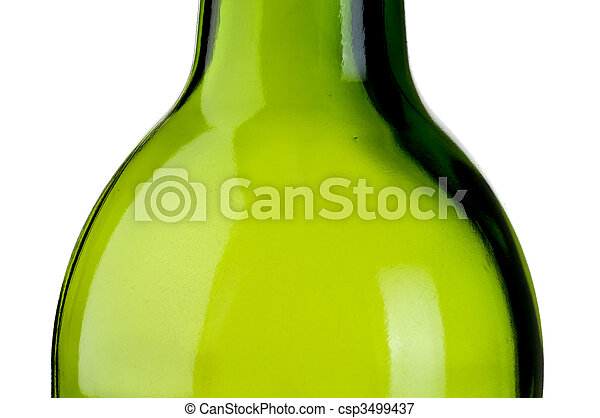 abstract close up of an empty green bottle of wine - csp3499437