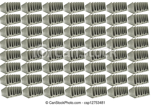 Abstract Close Up Of Heat Sinks - csp12753481