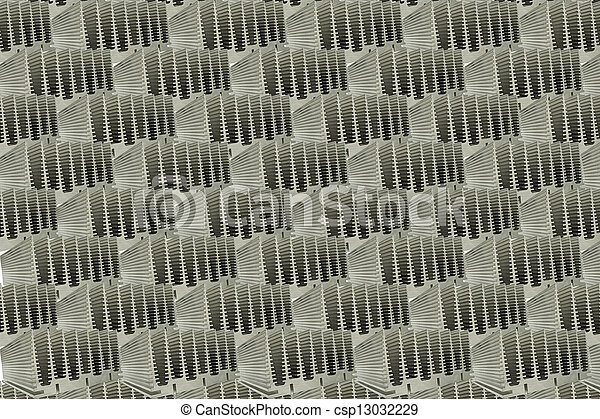 Abstract Close Up Of Heat Sinks - csp13032229