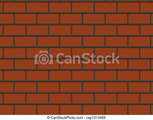 Abstract Close Up Red Brick Wall Background Rendered From 3D
