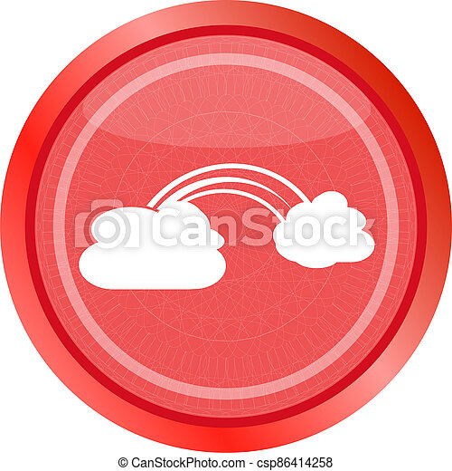 Abstract cloud web background isolated on white - csp86414258