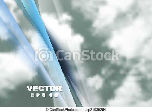 Abstract cloudy sky vector background - csp21035264