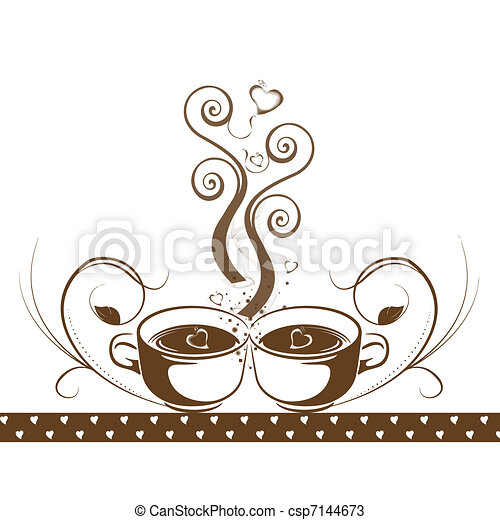 Abstract coffee concept  - csp7144673