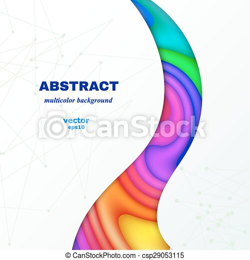 Abstract color background with place for text. Vector illustration - csp29053115