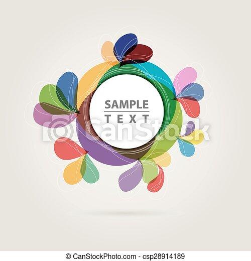 abstract color circle - csp28914189