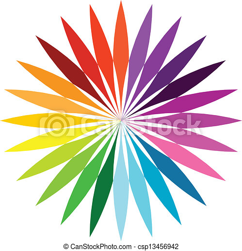 Abstract Color Flower Color Flower Wheel Background