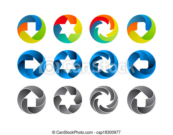 Abstract color icon set - csp18300977