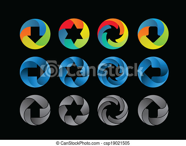 Abstract color icon set - csp19021505