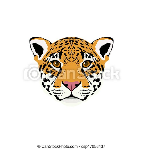 Abstract Color Jaguar Head. Jaguar Portrait For Design Card, Invitation,  Banner, Book, T Shirt, Poster, Sketchbook, Album Etc.