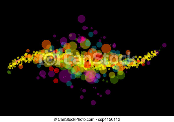 Abstract color light pattern on black - csp4150112