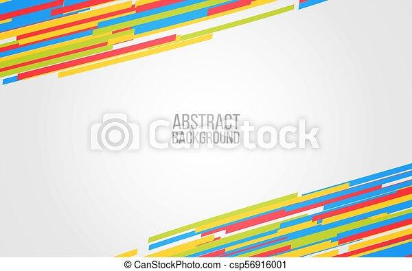 Abstract Color Lines Background Colorful Shapes On Gray Backdrop Design For Website Presentation Banner Poster Vector Illustration
