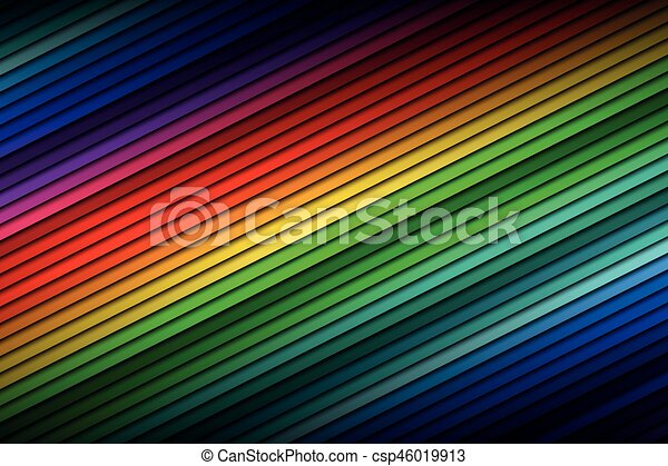 Abstract color palette background, color thin diagonal lines, vector illustration - csp46019913