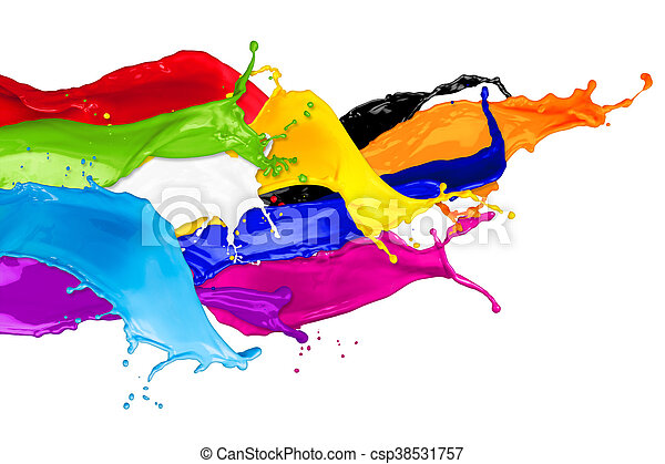 abstract color splashes - csp38531757