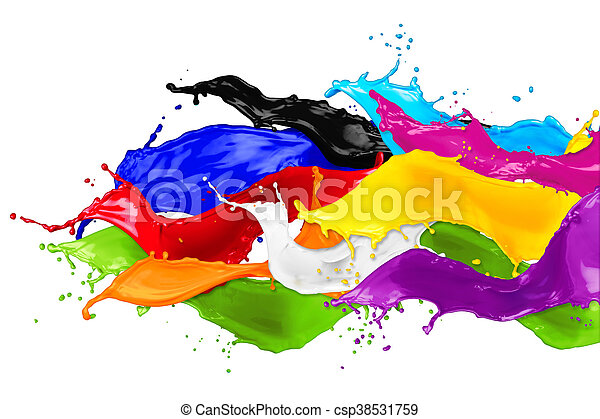 abstract color splashes - csp38531759
