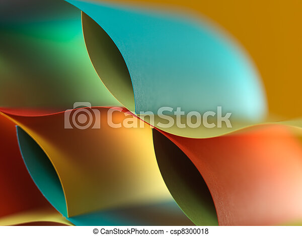 abstract colored paper structure on yellow background - csp8300018