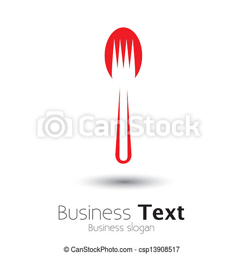 abstract colorful arrangement of spoon and fork- vector graphic - csp13908517