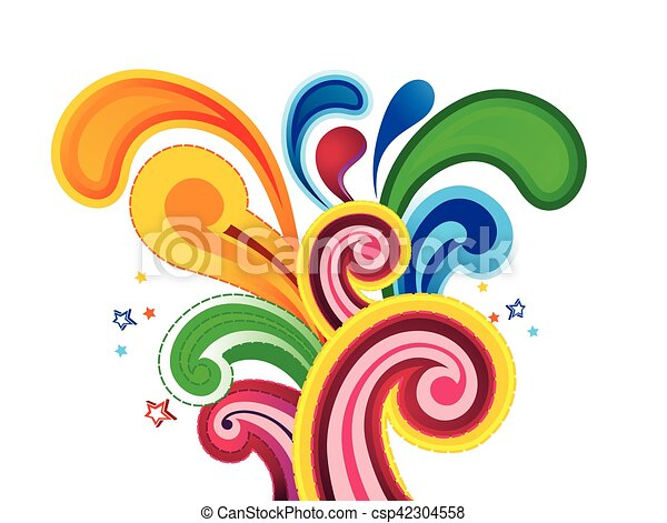 abstract colorful artistic explode background vector illustration - csp42304558