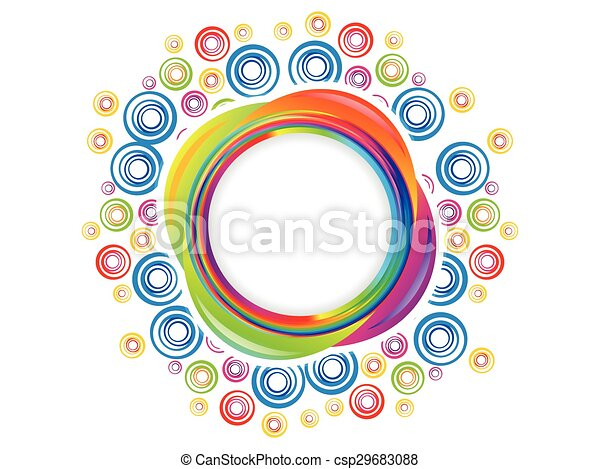 abstract colorful artistic rainbow circle explode - csp29683088
