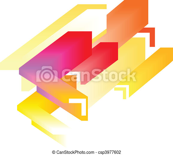 Abstract colorful background - 3 - csp3977602