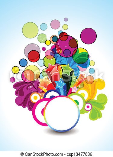 abstract colorful background - csp13477836