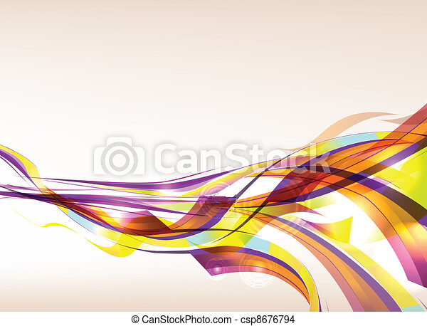 Abstract Colorful Background Flow - csp8676794