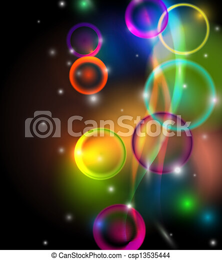 Abstract colorful background on black - csp13535444