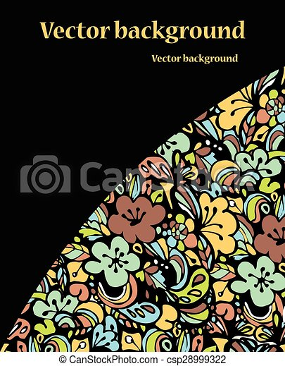 Abstract colorful background  on black - csp28999322