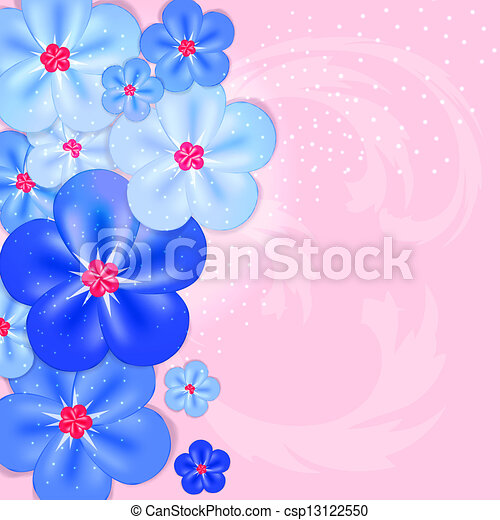 Abstract colorful background with flowers. Vector illustration - csp13122550