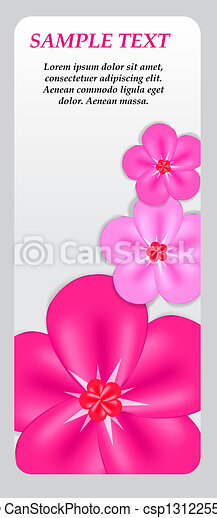 Abstract colorful background with flowers. Vector illustration - csp13122556