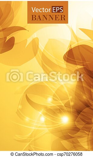 Abstract colorful background with flowers - csp70276058