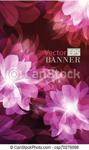 Abstract colorful background with flowers - csp70276098